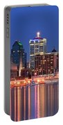 Louisville Panoramic At Blue Hour Portable Battery Charger
