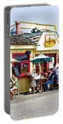 Loulou's On The Commercial Pier In Monterey-california Portable Battery Charger