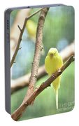Lovable Little Budgie Parakeet Living In Nature Portable Battery Charger