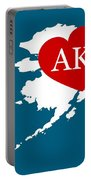 Love Alaska White Portable Battery Charger