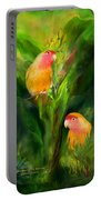 Love Among The Bananas Portable Battery Charger by Carol Cavalaris
