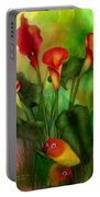 Love Among The Lilies  Portable Battery Charger
