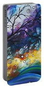 Love And Laughter By Madart Portable Battery Charger by Megan Duncanson