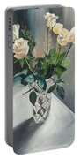 Love And Roses Portable Battery Charger