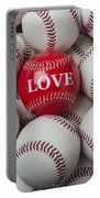 Love Baseball Portable Battery Charger