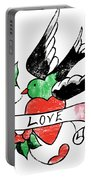 Love Bird Tattoo Portable Battery Charger