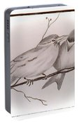 Love Birds Portable Battery Charger by Ginny Youngblood