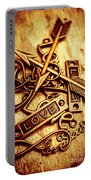 Love Charms In Romantic Signs And Symbols Portable Battery Charger