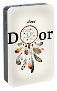 Love Dior Watercolour Dreamcatcher Portable Battery Charger
