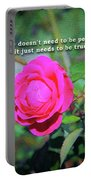 Love Does Not Need To Be Perfect Motivational Quote Portable Battery Charger