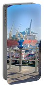 Love In The Port Of Valpaparaiso-chile Portable Battery Charger