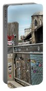Love Locks In Brooklyn New York Portable Battery Charger