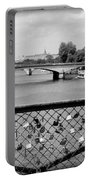 Love Locks Over The Seine Portable Battery Charger