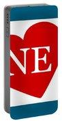 Love Nebraska White Portable Battery Charger