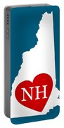 Love New Hampshire White Portable Battery Charger