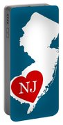 Love New Jersey White Portable Battery Charger
