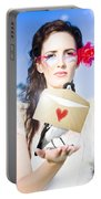 Love Note Delivery From The Heart Portable Battery Charger