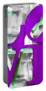 Love Philadelphia Purple Digital Art Portable Battery Charger