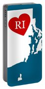 Love Rhode Island White Portable Battery Charger
