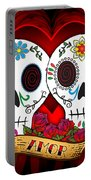 Love Skulls Portable Battery Charger