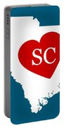 Love South Carolina White Portable Battery Charger