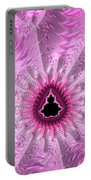 Lovely Pink Fractal Art Portable Battery Charger