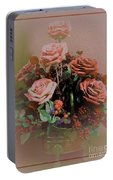 Lovely Rustic Rose Bouquet Portable Battery Charger
