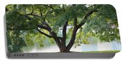 Lovely Tokyo Tree With Pond Portable Battery Charger
