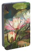 Lovely Waterlilies 7 Portable Battery Charger