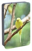 Lovely Yellow Budgie Parakeet In The Wild Portable Battery Charger