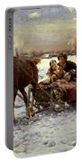 Lovers In A Sleigh Portable Battery Charger