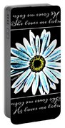 Loves Me In Blue Portable Battery Charger