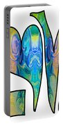 Loving Life Abstract Inspirational Artwork By Omaste Witkowski  Portable Battery Charger