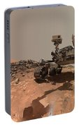 Low-angle Self-portrait Of Nasa's Curiosity Mars Rover Portable Battery Charger