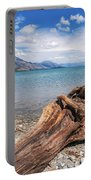 Low Angle View From The Rocky Dart River Bank At Kinloch, Nz Portable Battery Charger