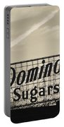 Low Angle View Of Domino Sugar Sign Portable Battery Charger