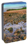 Low Tide At Montauk Point Portable Battery Charger