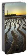 Low Tide On La Caleta Cadiz Spain Portable Battery Charger