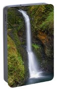 Lower Butte Creek Falls In Fall Season Portable Battery Charger