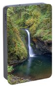 Lower Butte Creek Falls Plunging Into A Pool Portable Battery Charger