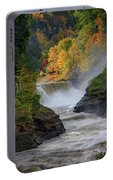 Lower Falls Of The Genesee River Portable Battery Charger