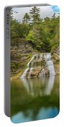 Lower Falls Reflection Of Enfield Glen Portable Battery Charger
