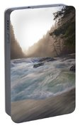 Lower Lewis River Falls During Sunset Portable Battery Charger