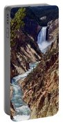 Lower Yellowstone Falls And River Portable Battery Charger