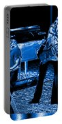 Ls #40 Enhanced In Blue Portable Battery Charger