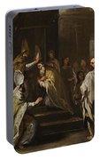Luca Giordano Naples 1634 - 1705 The Consecration Of Saint Gregorio Armeno Portable Battery Charger