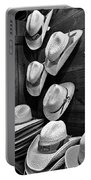Luckenbach Hats Black And White Portable Battery Charger