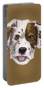 Lucky Brown Mixed Breed Portable Battery Charger