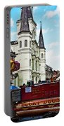 Lucky Dogs And St. Louis Cathedral Portable Battery Charger