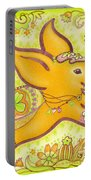 Lucky Elephant Orange Portable Battery Charger